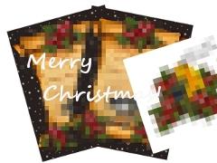 小鳥のポストカード(クリスマス)