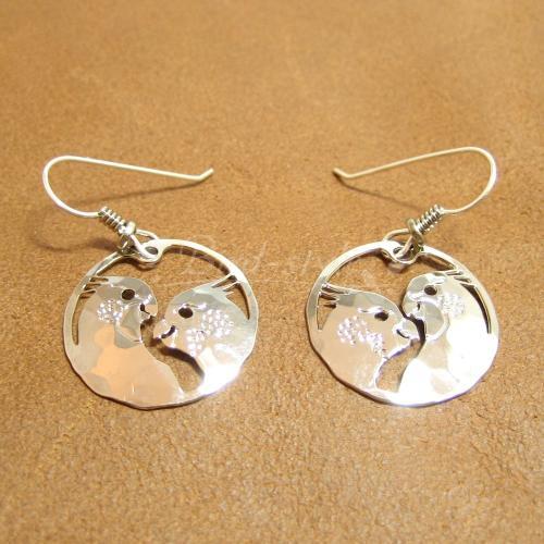 オカメインコのピアス-cockatiel love-silver