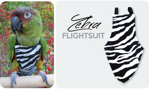 鳥フライトスーツ(ゼブラ)