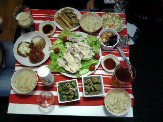 宴会の食事