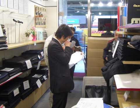 グローバルスタイル東京店 オーダースーツ