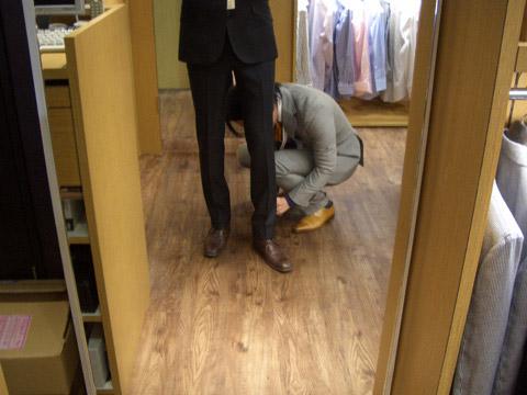 オーダースーツ グローバルスタイル 神田中央通り店 パンツサイズ