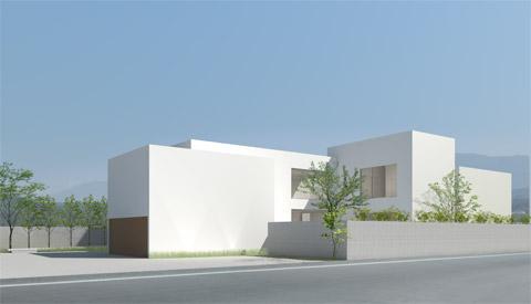 滋賀県 滋賀のレジデンス 邸宅 戸建て住宅 新築 外観 CGパース