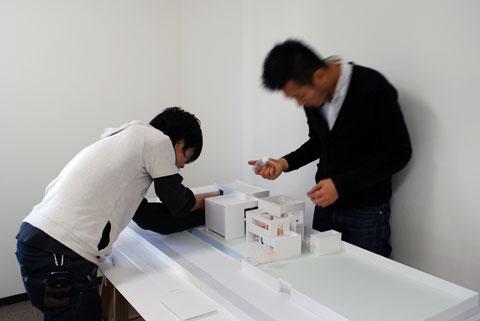 長浜の住宅 模型作成風景
