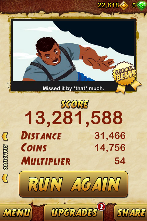 Temple Run 2 iPhone アプリ ゲーム