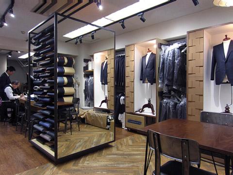 SAKAEYA 東京駅店 オーダースーツショップ 設計デザイン