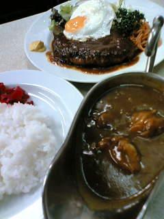 ハンバーグとカレーライス(チキン)980円