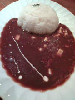 ポイントディナー・キーマカレー(モツァレラチーズ入り)900円