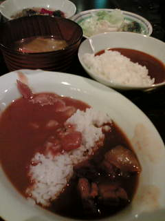 カレー&お茶漬けバイキング680円+サラダ等50円