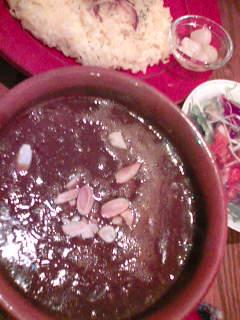 挽肉と野菜のカレー900円+ランチセット300円