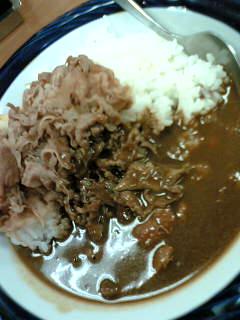 牛・カレー500円