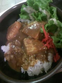 豆腐ハンバーグカレー丼300円