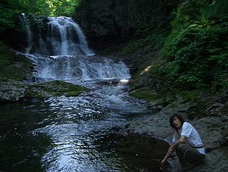 たんぽぽ博士と滝