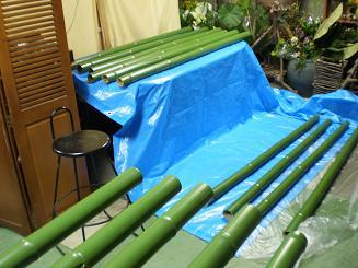 竹の色塗り