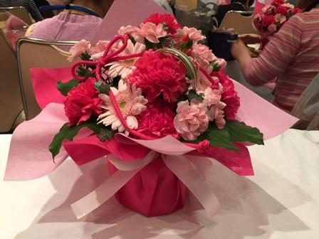 母の日 講習会で作った花