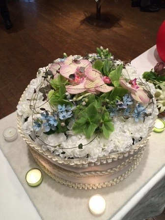 フラワーケーキ 切り花T
