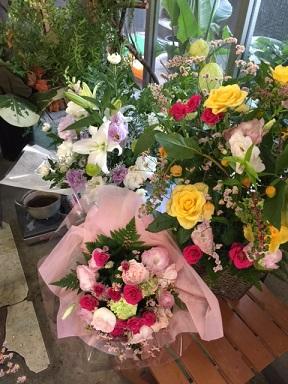 花の注文が次々に