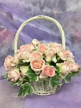 バラの誕生祝の花