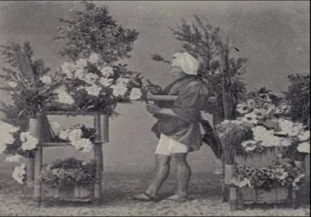江戸時代の 花屋