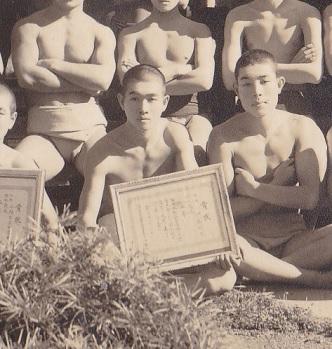 相撲部だった頃の父