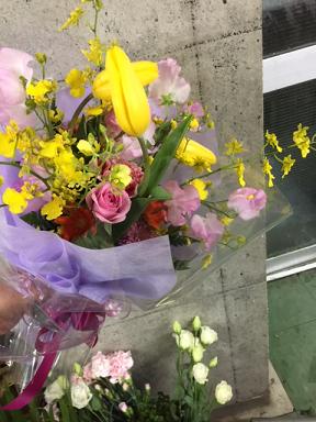 お寿司屋さん へ贈る 花束
