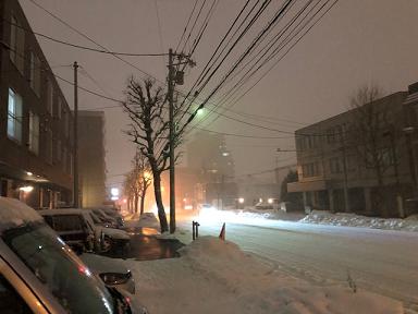 札幌市 寒冷前線