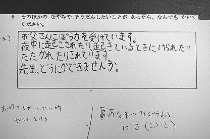 小学4年生虐待死事件 アンケート