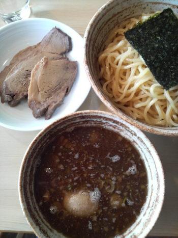 麺屋 錦堂 チャーシューつけ麺 + 大盛 + 味玉