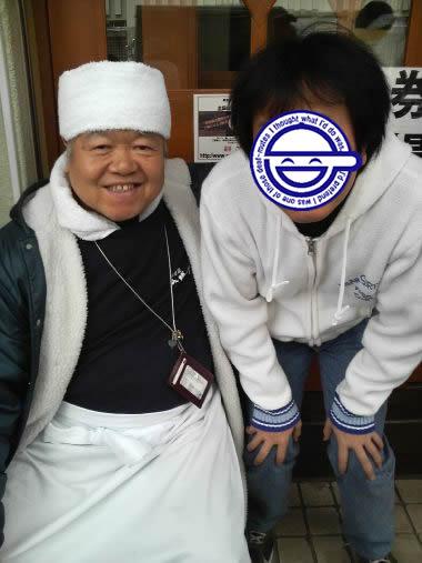 ミスター大勝軒「山岸氏」と記念撮影!!(マシマシさん)