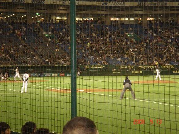 東京ドーム試合中