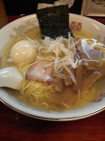 藤沢の松男 塩ラーメン 味玉入り