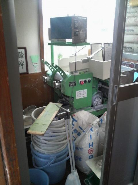 中華蕎麦 とみ田 製麺機