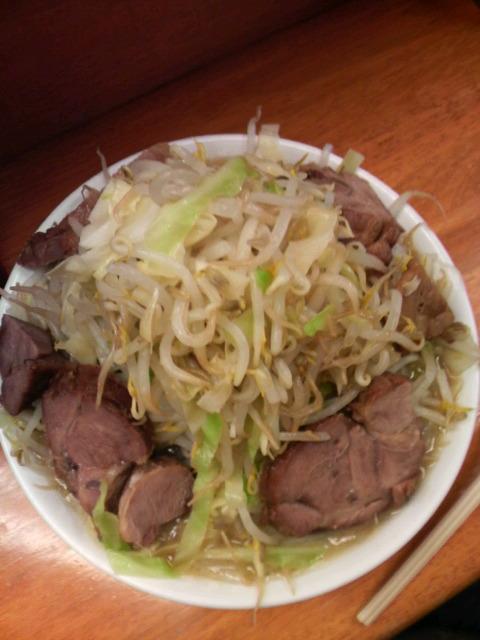 ラーメン二郎立川店小豚マシ野菜マシ