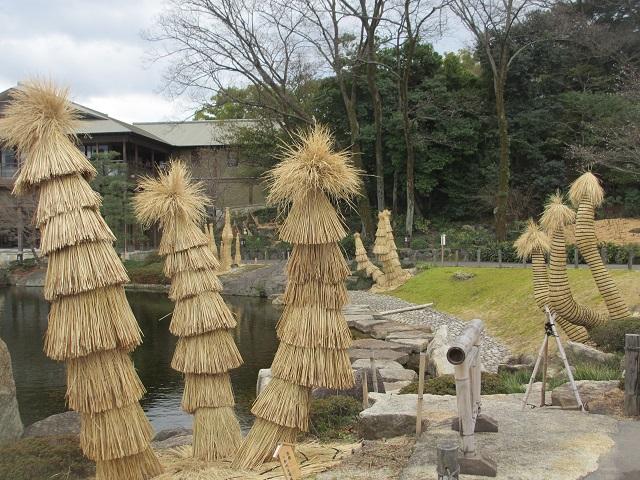徳川園の冬牡丹�