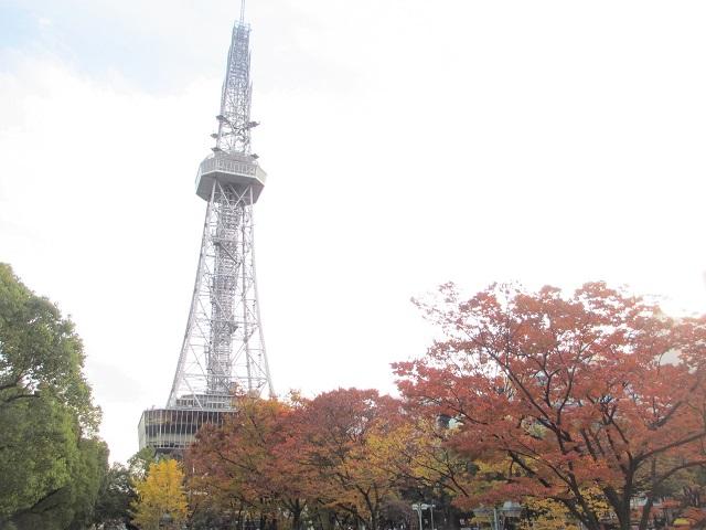 テレビ塔の紅葉