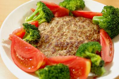 合びき肉の10分ハンバーグ