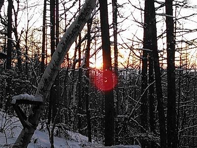 蓼科の夕陽
