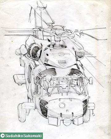スケッチ(2)ヘリコプター
