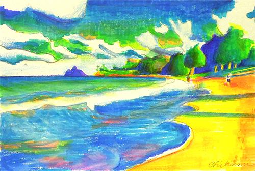 海岸 描き 方