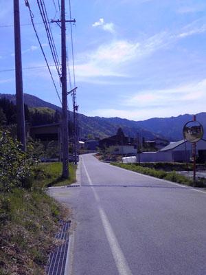 自転車で走る道