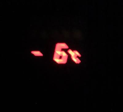 出発の気温