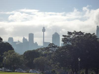 シドニー大学キャンパスから望むシドニー・セントラル