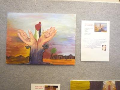 パレスチナの少年少女絵画展