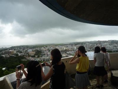 嘉数高台公園から普天間基地を視る