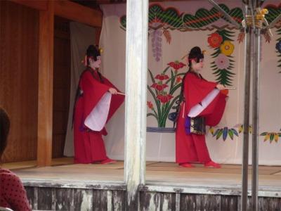首里城公園で琉舞を観る
