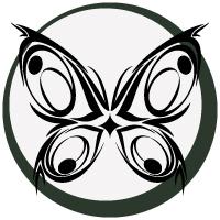 トライバル的な蝶