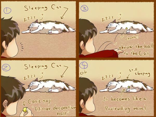 猫ネタ4コマ