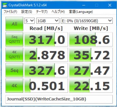 Journal(SSD)ありのベンチマーク