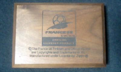 W杯フランス大会記念Zippo(箱)