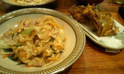 フーチャンプルー&もずくの天ぷら